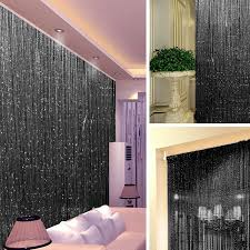 Door Bead Curtains Ebay by String Door Curtain Crystal Beads Room Divider Wall Window Panel