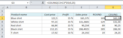 Ceiling Function Excel Vba by How To Calculate Prices And Make Them End With A Certain Number In