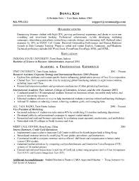 Entry Level Resume Examples Summary For A Inside