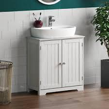 details zu badezimmer waschbecken unterschrank schrank 2 türen aufbewahrung möbel weiß