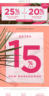 West Elm Coupons - 25% Off At West Elm, Or Online Via Promo ... Ebay 15 Off Coupon Code September 2019 Trees And Trends Store Coupons Best Tv Deals Under 1000 Decor Great Home Accsories And At West Elm 20 Pottery Barn Kids Onlein Stores Exp 52419 10 Ebay Shopping Through Modsy Everything You Need To Know Leesa Hybrid Mattress Coupon Promo Code Updated Facebook Provident Metals Promo Coupons At Or Online Via West Elm Entire Purchase Fast In Rejuvenation Free Shipping Seeds Man Pottery Barn Williams Sonoma