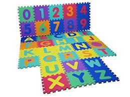 Alphabet Numbers EVA Floor Mat Baby Room Jigsaw Play Mat Soft Foam