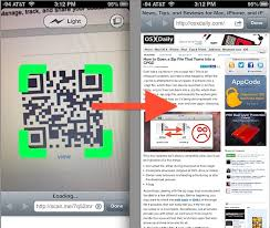 Read a QR Code from the iPhone