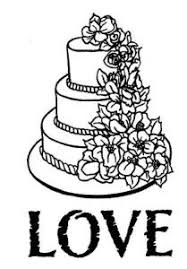 Creative Expressions Single Stamps Wedding Cake Pre Cut Stamp
