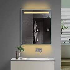 aqua led beleuchtung badezimmerspiegel bad spiegel kaltweiß warmweiß mit steckdose tsl60 70