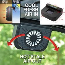 Auto Solar Powered Car Window Windshield Auto Air Vent Cooling