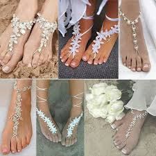 Wedding Shoe Ideas Shoes For The Beach Staylis Foot Jewelry Themed Shop