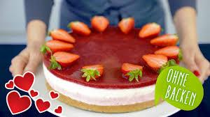 erdbeer mascarpone torte ohne backen no bake cake kuchen ohne backen