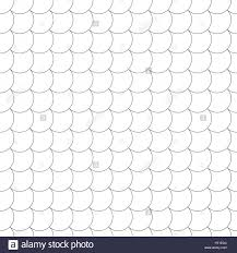 Seamless Pattern Modern Stylish Geometric Tile Texture With The Repeating Scales Semicircles Arcs Circular Elements Monochrome Backdrop Web V