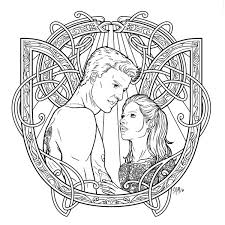 Buffy The Vampire Slayer Adult Coloring Book Profile Dark
