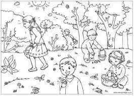 Easter Coloring Pages On Egg Hunt Colouring Page
