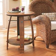 Make Outdoor End Table by Making Barrel Side Table U2014 Home Ideas Collection