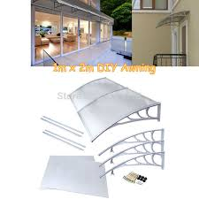 patio door awnings uk ship from uk 1mx2m polycarbonate window awning outdoor diy front