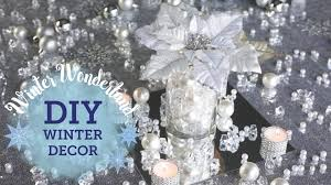 DIY Winter Wonderland Mirror With Candles Centerpiece