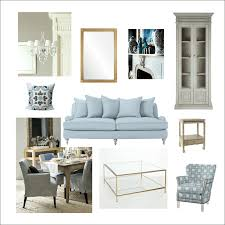 White Simple Living Room Decoration White Wall Sofa