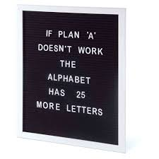 Large Changeable Letter Board A3 Black White The Design Gift Shop