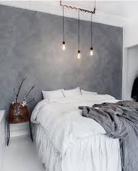 Bedroom Grey Wall Ideas Imposing On