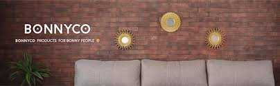 bonnyco spiegel rund gold 3 stück spiegel klein wanddeko wohnzimmer haus und schlafzimmer spiegel wand zum aufhängen und dekorieren spiegel