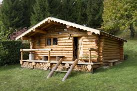 chalet en rondins de bois