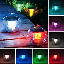 ecbuy outdoor solar waterproof color changing led