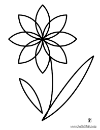 Simple Flower Coloring Pages Fun Easy Free Printable Flowers Images