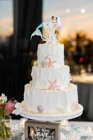 My S Toppers Bride And Groom Beach Wedding Cake Ombre