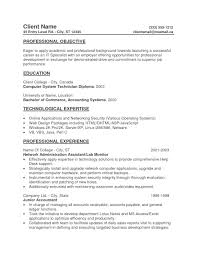 Resume Objective Examples Entry Level 2017