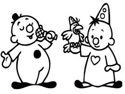 Bumba Singing With His Friend Bumbalu And A Little Bird Coloring Pages