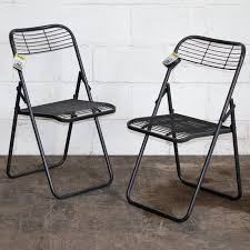 Details About 2x Folding Metal Chairs Vintage Rustic Industrial Style  Furniture Retro Seating