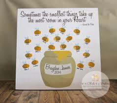 Winnie The Pooh Baby Shower by Fingerprint Bee Baby Shower Guest Book Baby Shower Guest Book