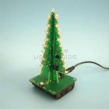 Ebay Christmas Trees With Lights by 3d Xmas Tree Diy Kits 7 Color Light Flash Led Circuit Christmas
