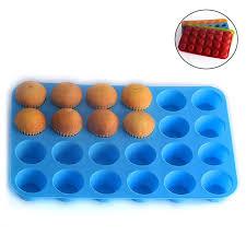großhandel 24 loch muffin cup form silikon kuchen cookies gelee keks backblech kuchen tasse backform mischfarbe senden esw house 2 16 auf