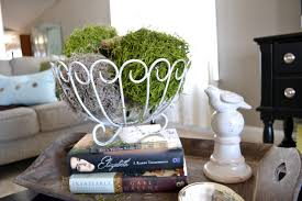 This Week I Really Wanted To Create A Spring Centerpiece For My Coffee Table Found An Old Metal Basket And Some Decorative Balls In Junk Closet