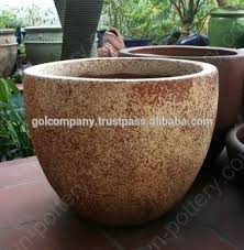Wholesale Egg Round Dark Clay Vase