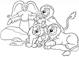 Daniel And The Lions Den Coloring Page Pages Within