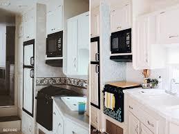 5th Wheel Kitchen Dining Makeover Inspiration Rv Renovation Remodel