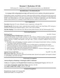 Radiologic Technologist Resume Example