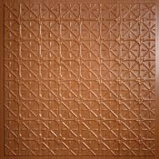 Staple Up Ceiling Tiles Home Depot by Ceilume Fleur De Lis Faux Tin 2 Ft X 2 Ft Lay In Or Glue Up