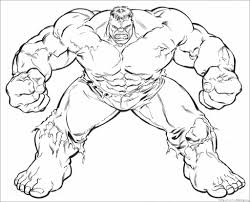 Tremendous Hulk Coloring Page Pages