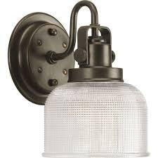 Home Depot Bathroom Vanity Lights Bronze by Progress Lighting Archie Collection 1 Light Venetian Bronze Vanity