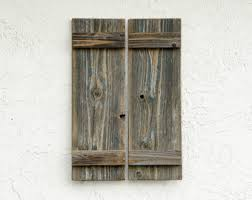Rustic Shutters Set Of 2 Wooden Door Barn Doors