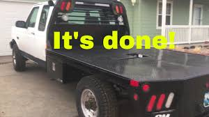 100 Neckover Truck Beds 1997 F250 Flatbed Install Completed YouTube