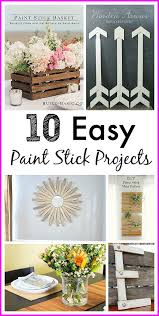Lots Of Cute Craft Ideas Easy Paint Stick Projects
