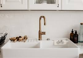 kueche landhaus keramik becken gold wasserhahn duni cheri