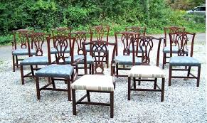 Baker Dining Room Table And Chairs Set Of Twelve Vintage Mahogany For Sale