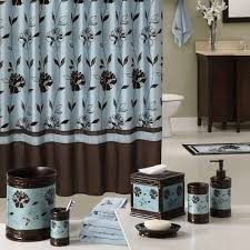 Blue Ombre Curtains Walmart by Wonderful Aqua And Brown Shower Curtain Pictures Best Idea Home