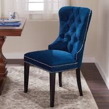 Shop Abbyson Versailles Blue Tufted Dining Chair - On Sale - Free ... Shop Villa Faux Leather Ding Chairs Set Of 2 On Sale Free Kai Chair Darby Home Co Florinda Wood Leg Upholstered Reviews Fabric Mimi With Arm Timothy Oulton Callisto Table Dark 4 Aletta Grey Ireland George Oliver Kling Wayfair Savoy Brandon Ding Chairs 13500 Furnish Online Designer Timber Rj Living Louis Marble Top With Knoerback