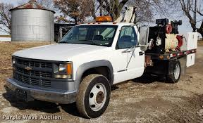 100 Pickup Truck Crane 1997 Chevrolet 3500 Flatbed Pickup Truck With Crane Item A