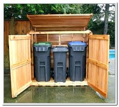 trash cans garbage can enclosures wooden trash can storage