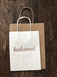 Black Gift Bag Bridesmaid Bachelorette Maid Of Honor Bridal Party Paper